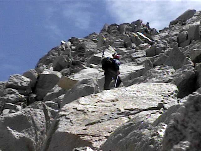 Easy 5th class climbing on...