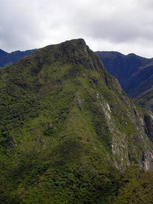 View of Cerro Machu Picchu...