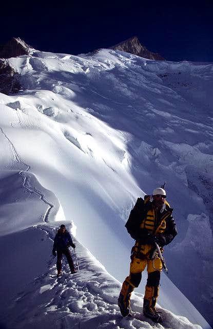 On the left, Gasherbrum III...