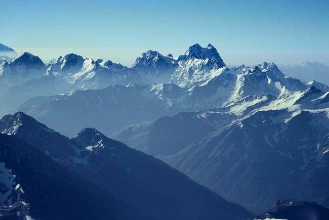 Ushba peak, photo taken early...