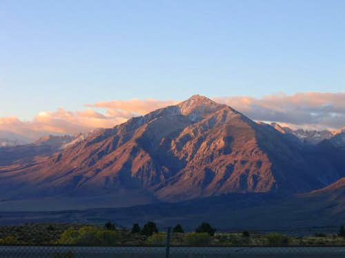 Mount Tom at dawn--October 2005