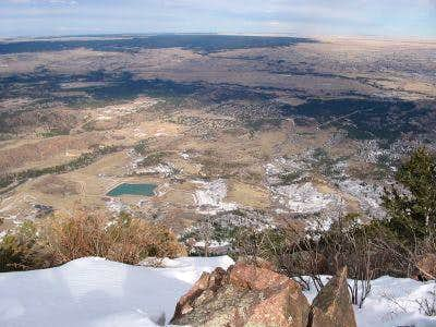 East view from summit, Feb 2005