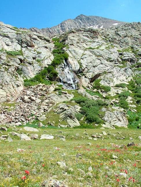 Waterfall of Bierstadt runoff...