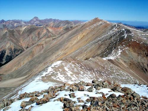 Redcloud Peak from the summit...