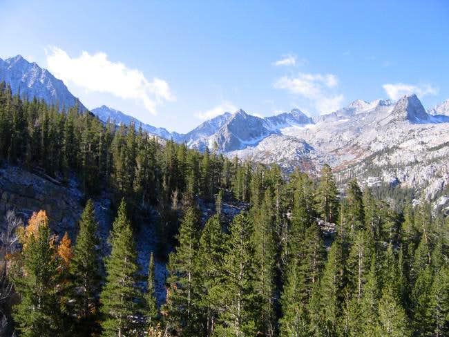 Hurd Peak peering above the...