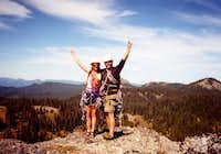Mary and Ty at the summit of...