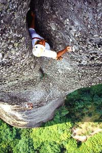 The 4th crux pitch of ultra...