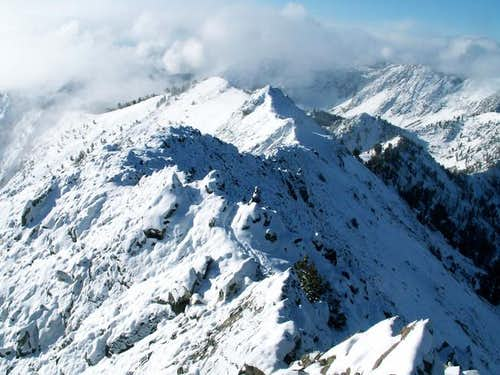 Norton Peak\'s summit ridge...