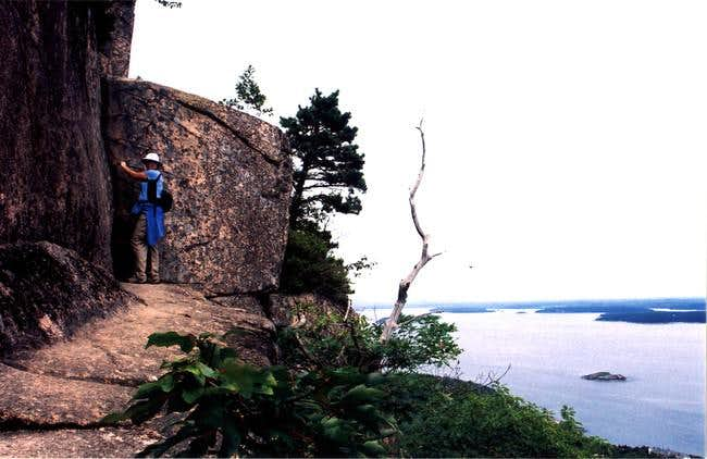 The Precipice Trail climbs...