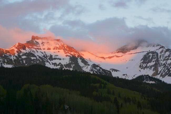 Vermilion Peak (right) and...