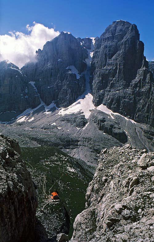 Crozzon di Brenta from route...