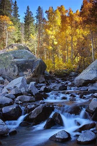 Fall colors near Lake Sabrina...