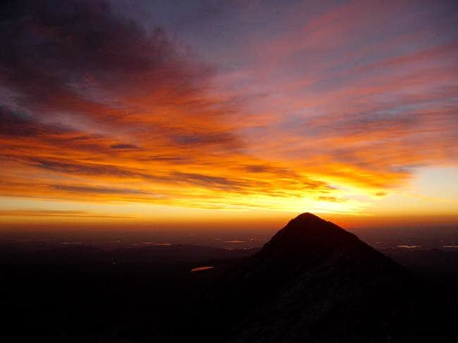 Sunrise in the Indian Peaks....