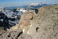 My partner nearing the summit...