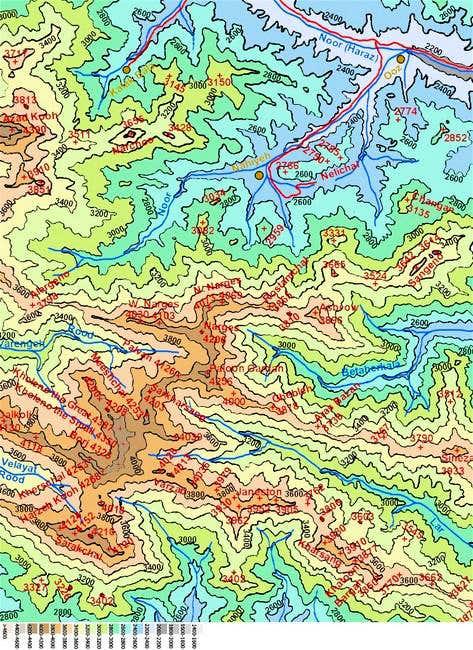 Map of Azad Kooh/Kholeno area...