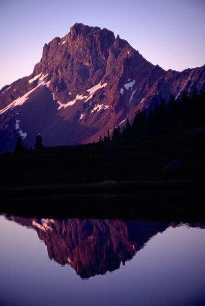 Alpenglow on American Border...