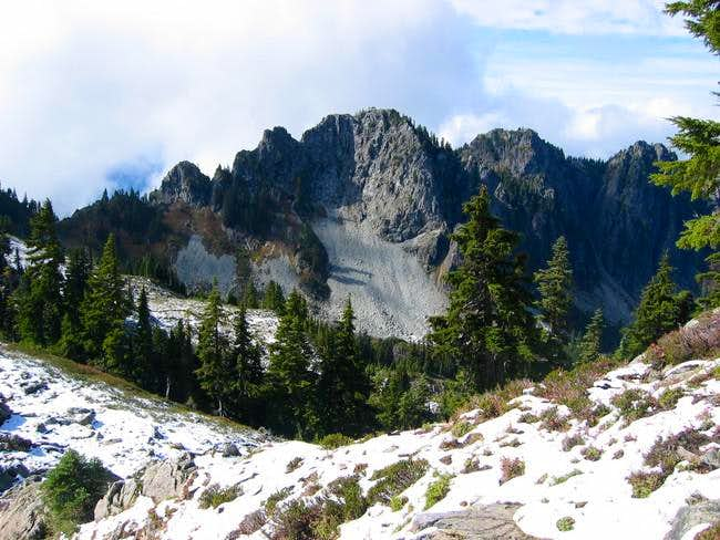 East face of Chutla Peak
