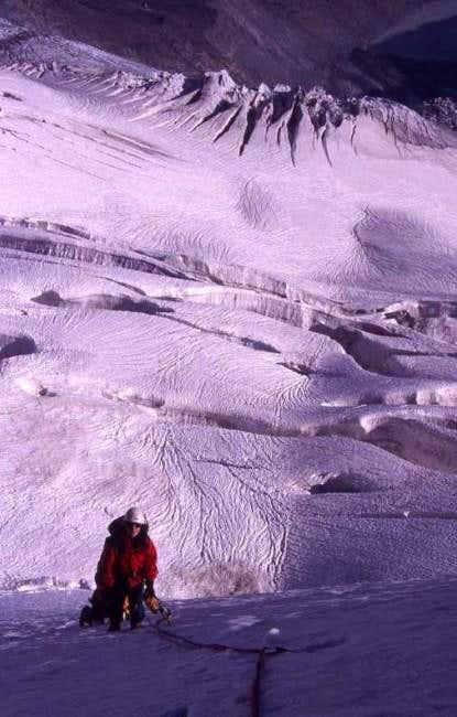 Climbing at the N-ridge of...