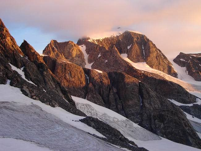 Sunrise on Gannett Peak from...