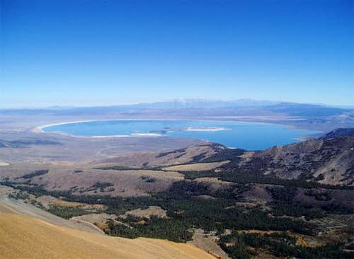 View of Mono Lake from the...