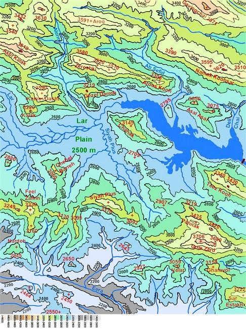 Map of Lar Lake area...