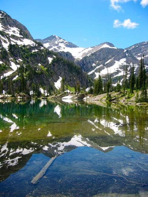 Glacier Peak reflected in the...