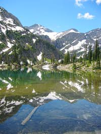 Glacier Peak reflected in the...