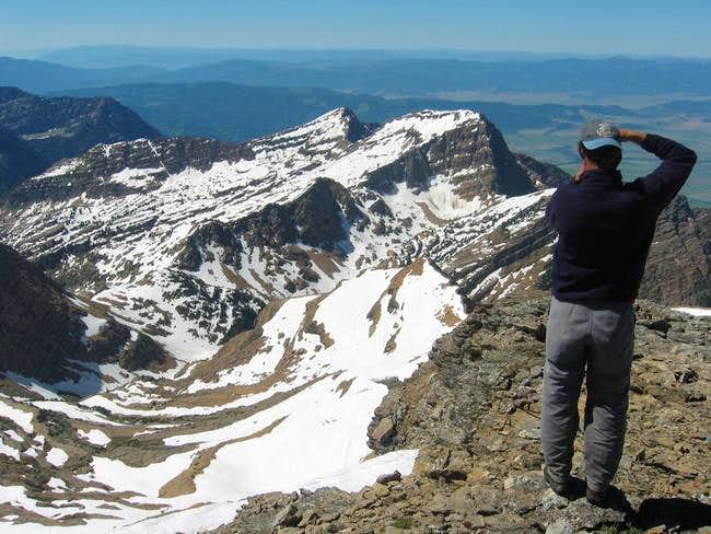Looking south from the summit...