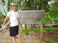 Tribal Boundary sign atop...