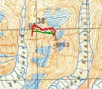 Map of the ascent and descent...