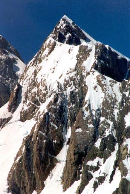 One of the side peaks of...