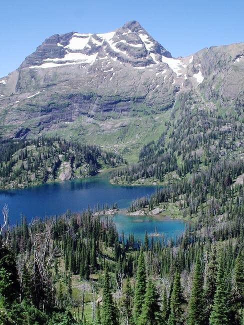 Cliff Lake with McDonald Peak...