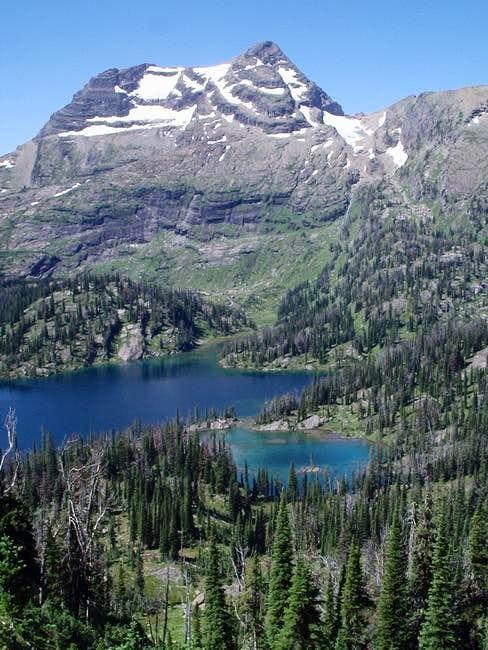Cliff Lake with McDonald Peak...