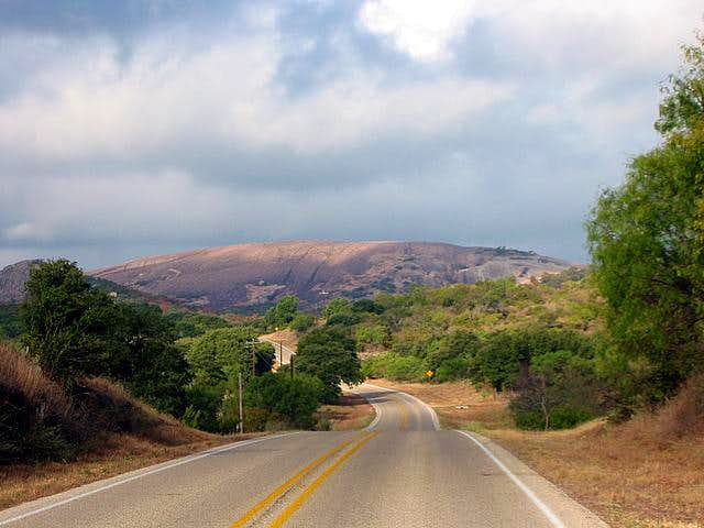 Enchanted Rock viewed in the...