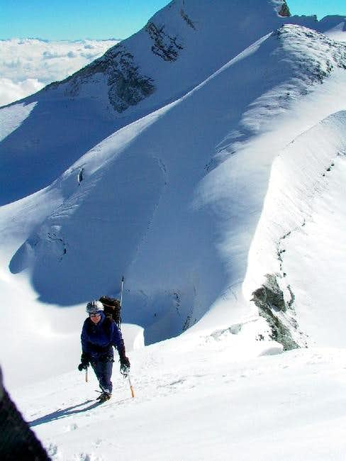 On the NE ridge of the Bishorn