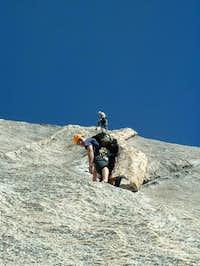 Climbers on