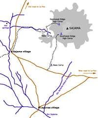 Sajama map by Branko Ivanek