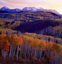 Dolores Peak and Middle Peak...