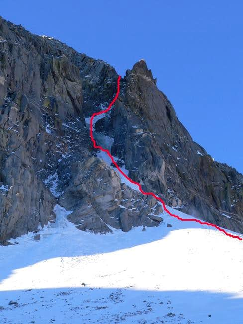 NE Couloir, October 2005