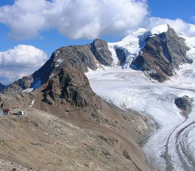 Piz Cambrena (3606m) , with...