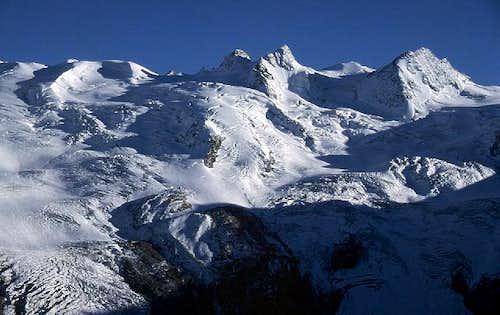Roseg glacier with La Sella...