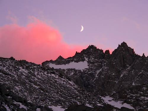 Sunset with moon on N. Pal,...