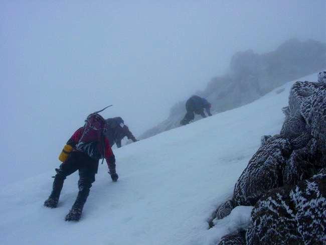 Summit day on Sargents Ridge....