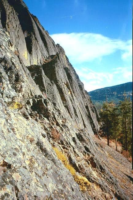 West side of the rock face...