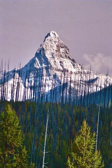 Telephoto view of Mount Saint...