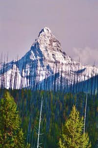 Telephoto view of Mount Saint...