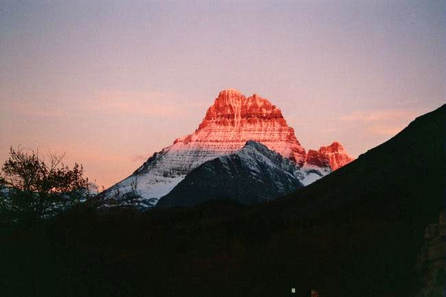 Mount Wilbur with early...