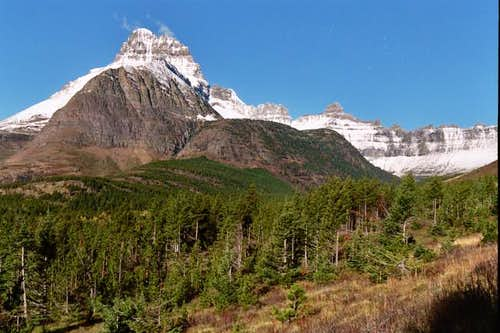Mount Wilbur (left) on the...
