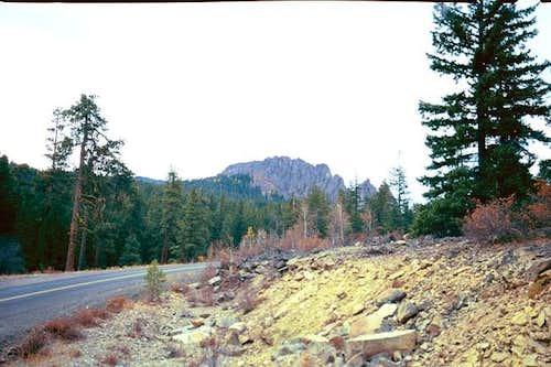 Kloochman Rock from the east...