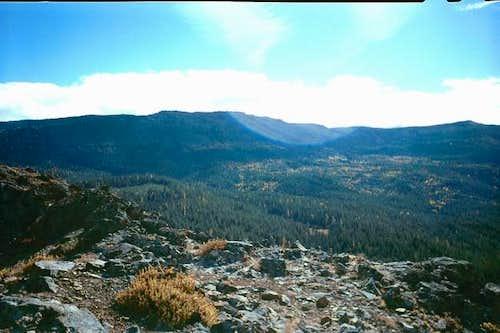 Looking south at Divide Ridge...